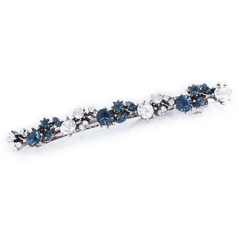 Unique Artificial Crystal Barrette - BLUE