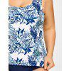 Leaf Tropical Plus Size Classic Tankini Set - COLORMIX 5XL