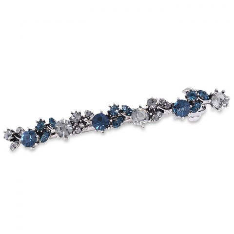 Unique Artificial Crystal Barrette - GRAY