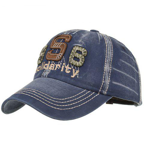 Chapeau Snapback avec Inscription Solidarity Brodée Style Unique - Cadetblue