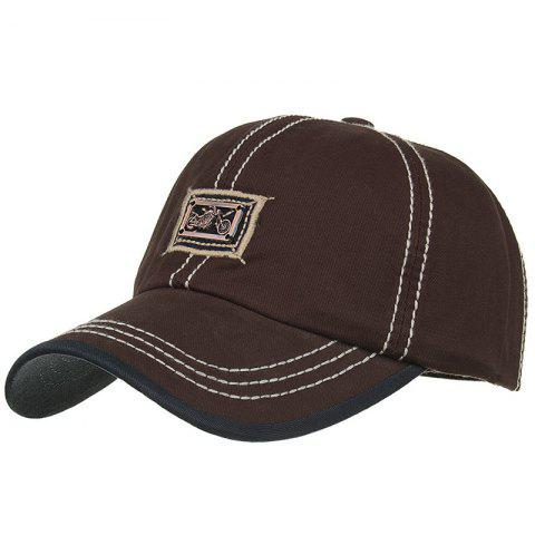 Motorcycle Metal Bar Embellished Snapback Hat - CAPPUCCINO