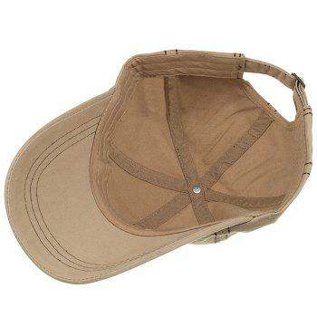 Unique W Embroidery Adjustable Sunscreen Hat - KHAKI