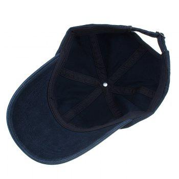 FASHION Embroidery Adjustable Sunscreen Hat - CADETBLUE