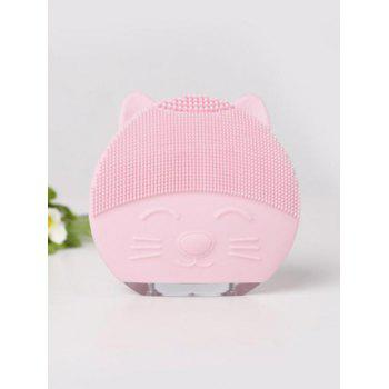 Mini Portable Ultrasonic Silicone Facial Cleanser Device - LIGHT PINK
