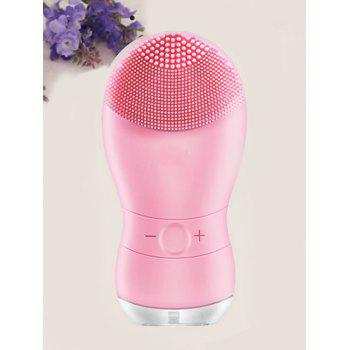 Professional Electric Silicone Waterproof Facial Cleansing Instrument - PINK