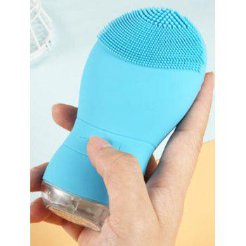 Professional Electric Silicone Waterproof Facial Cleansing Instrument - BLUE