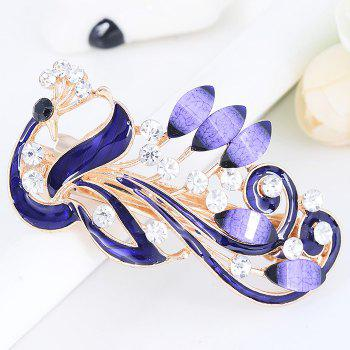 Unique Peacock Shaped Rhinestone Hair Clip - PURPLE