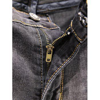 Casual Slim Fit Straight Leg Jeans - GREEN 38