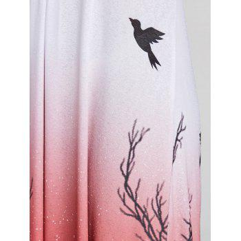 Gradient Color Printed Long Dress - COLORMIX XL
