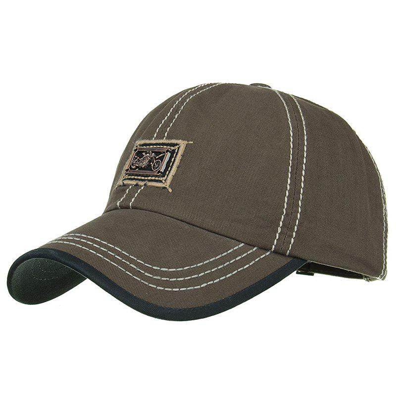Motorcycle Metal Bar Embellished Snapback Hat - ARMY GREEN
