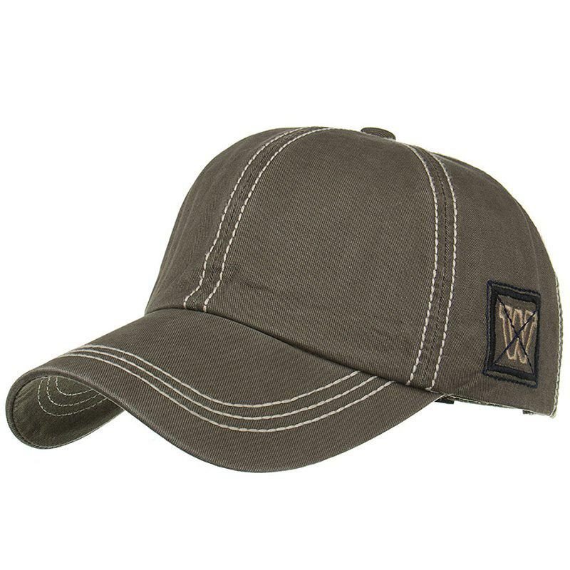 Unique W Embroidery Adjustable Sunscreen Hat - ARMY GREEN
