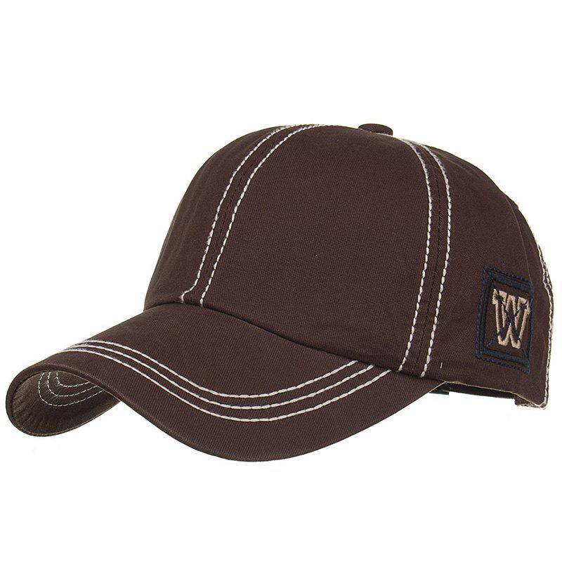 Unique W Embroidery Adjustable Sunscreen Hat - CAPPUCCINO