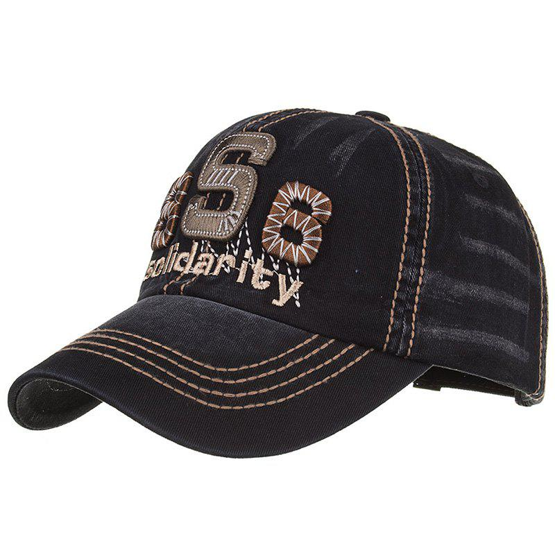 Unique Solidarity Embroidery Snapback Hat - BLACK