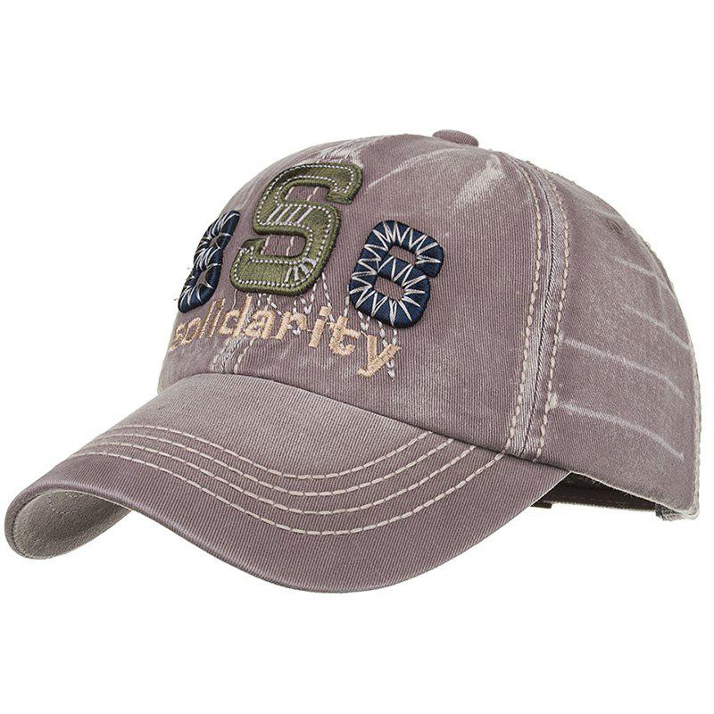 Unique Solidarity Embroidery Snapback Hat - GRAY