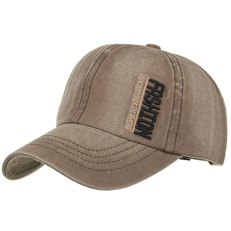 FASHION Embroidery Adjustable Sunscreen Hat - CAPPUCCINO