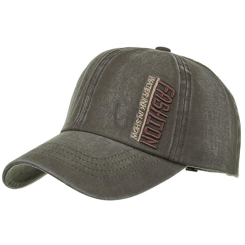 FASHION Embroidery Adjustable Sunscreen Hat - ARMY GREEN