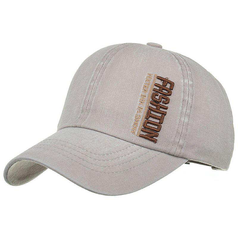 FASHION Embroidery Adjustable Sunscreen Hat - GRAY