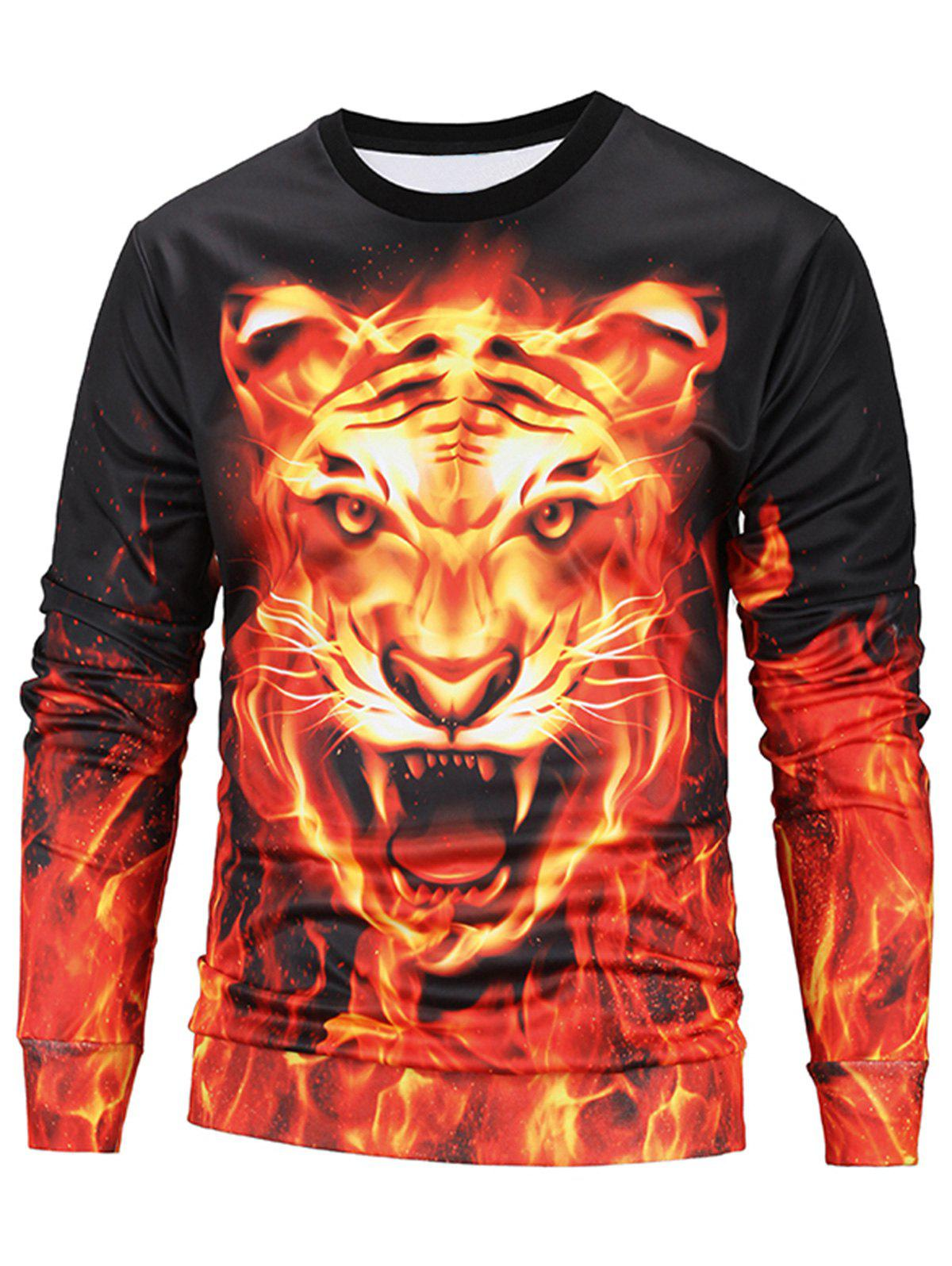 Animal Face 3D Printed Sweatshirt - COLORMIX 2XL