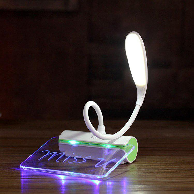 LED Desk Reading Lamp with Message Board - GREEN