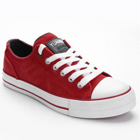 Casual Outing Sporty Sneakers - RED 37
