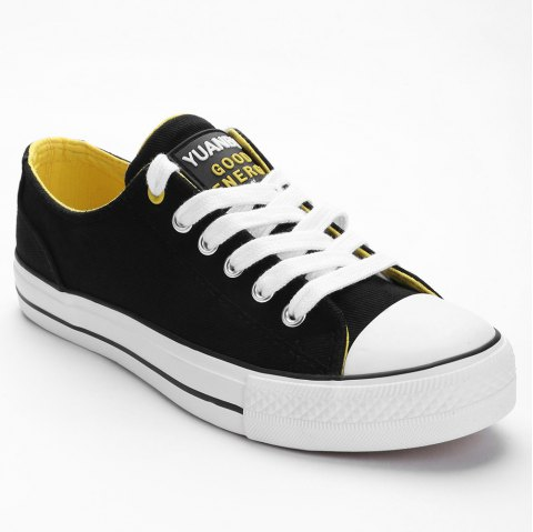Casual Outing Sporty Sneakers - BLACK 37