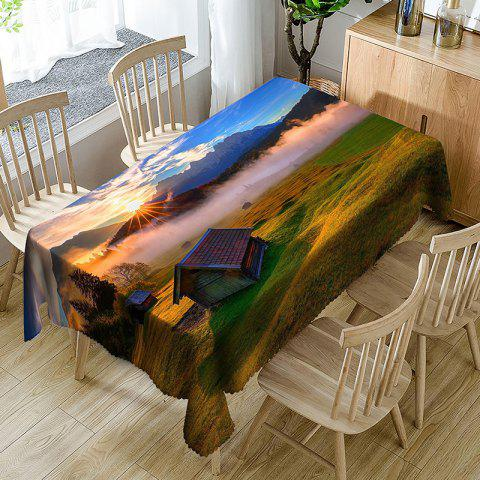 Rural Landscape Pattern Indoor Outdoor Table Cloth - COLORMIX W60 INCH * L84 INCH