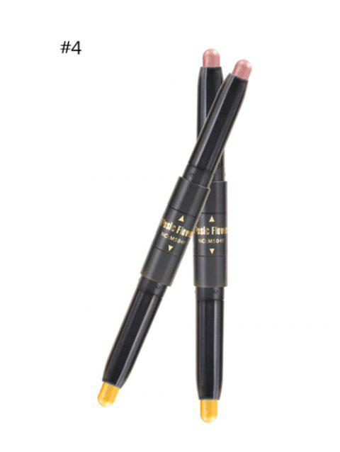 Professional Long Lasting Shimmer Color Double Ended Eyeshadow Stick - 04
