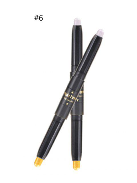 Professional Long Lasting Shimmer Color Double Ended Eyeshadow Stick - 06