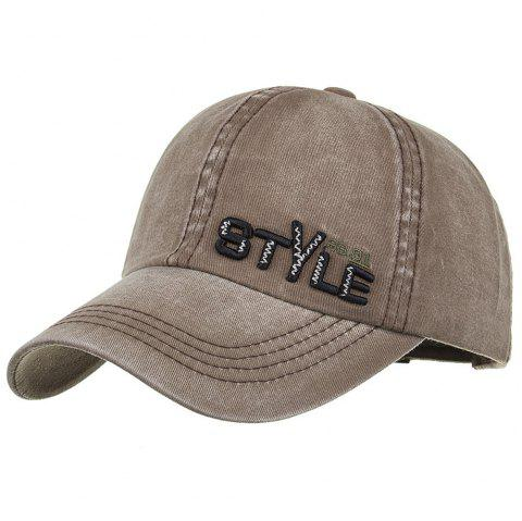 STYLE Embroidery Adjustable Graphic Hat - CAPPUCCINO