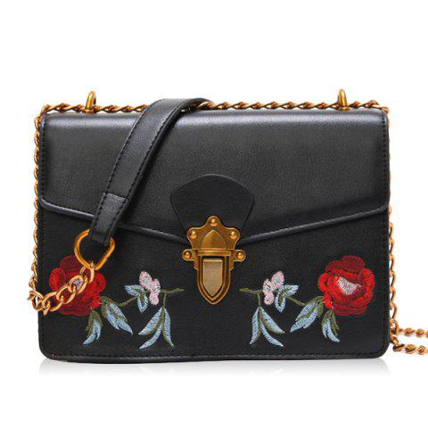 089f396a2b LIMITED OFFER  2019 Floral Embroidery Flap Chain Crossbody Bag In ...