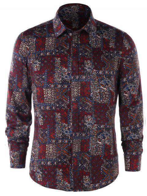 Tiny Floral Long Sleeve Shirt - COLORMIX M