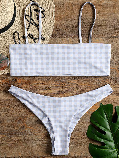 Wirefree Bandeau Bikini Top and Scrunch Bottom - CHECKED XL