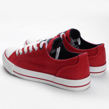 Casual Canvas Skate Shoes - RED 39