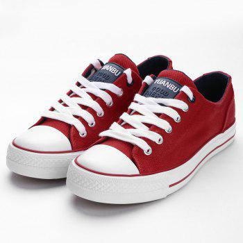 Casual Canvas Skate Shoes - RED 37