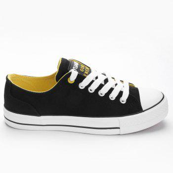 Casual Canvas Skate Shoes - BLACK 35