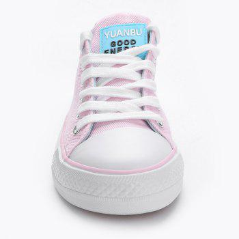 Casual Canvas Skate Shoes - PINK 39