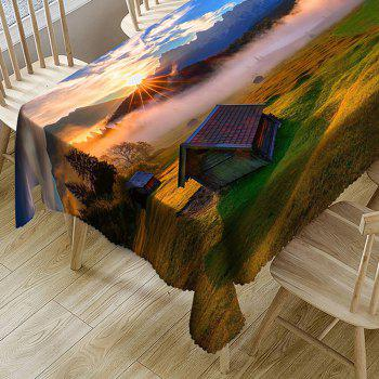 Rural Landscape Pattern Indoor Outdoor Table Cloth - COLORMIX W54 INCH * L54 INCH