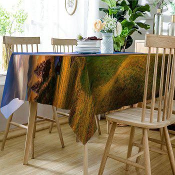 Rural Landscape Pattern Indoor Outdoor Table Cloth - COLORMIX W54 INCH * L72 INCH