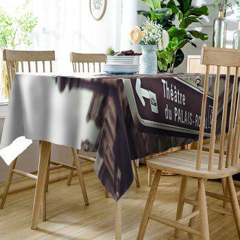 Building Signpost Pattern Indoor Outdoor Table Cloth - BROWN W54 INCH * L54 INCH