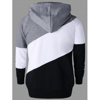 Color Block Raglan Sleeve Hoodie - COLORMIX 2XL