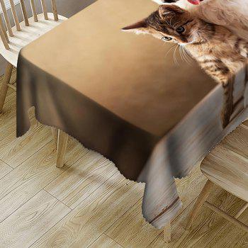 Cat and Dog Pattern Waterproof Table Cloth - BROWN W60 INCH * L84 INCH