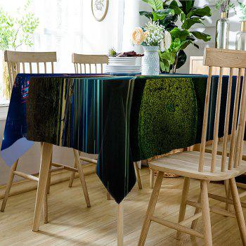 Bright Roadway Print Fabric Waterproof Table Cloth - COLORMIX W54 INCH * L54 INCH
