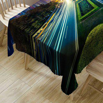 Bright Roadway Print Fabric Waterproof Table Cloth - COLORMIX W60 INCH * L84 INCH