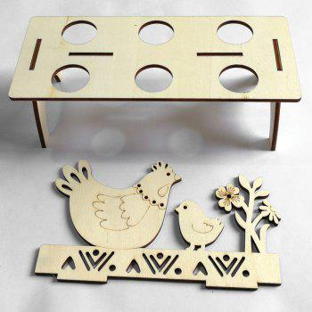 Chick Shape Home Decor Wooden Easter Egg Holder - WOOD