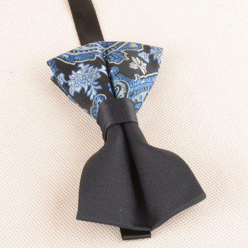 Vintage Asymmetric Cashew Pattern Bow Tie - ROYAL