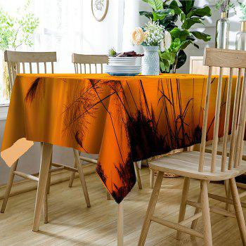 Cranes Reed Sunset Print Waterproof Table Cloth - YELLOW W54 INCH * L72 INCH