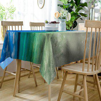 Waterproof Mountain and Sea Print Table Cloth - COLORMIX W54 INCH * L54 INCH