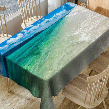 Waterproof Mountain and Sea Print Table Cloth - COLORMIX W54 INCH * L72 INCH