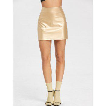 High Rise Sparkle Mini Skirt - GOLDEN S