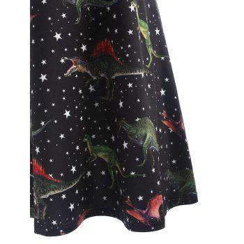 Star Dinosaur Tank Dress - BLACK XL